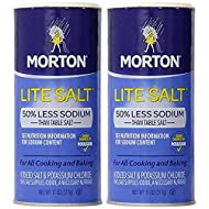 Morton Salt Lite Salt, 11 oz, 2 pk