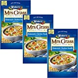 Mrs. Grass Hearty Sup Mix, Homestyle Chicken Noodle, 5.93 oz (Pack of 3)