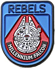 Star Wars Jewelry Men's Episode 8 Rebels Millenium Falcon Lapel Pin Jewelry, Blue/Red, One