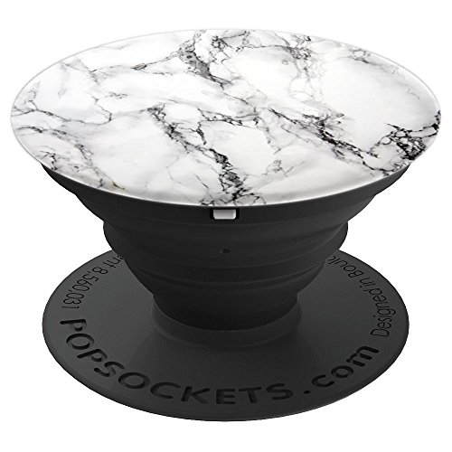 Taj White Marble - PopSockets Grip and Stand for Phones and Tablets by ArtHouse Phone Grips