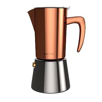 Espressokocher  bonVIVO® Intenca, Espressokocher aus Edelstahl In Kupfer-Chrom ...