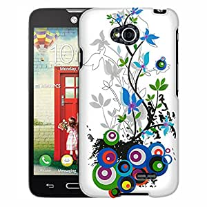 LG Ultimate 2 Case, Slim Fit Snap On Cover by Trek White Sprint Flower Case