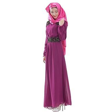 Phelion Mujer Chica Moda Gasa Kaftan Malasia Musulmán Vestido ...