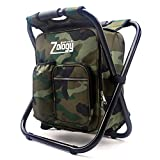 CAMPORT Folding Camping Chair Stool Backpack with Cooler Insulated Picnic Bag, Hiking Camouflage Seat Table Bag Camping Gear for Outdoor Indoor Fishing Travel Beach BBQ