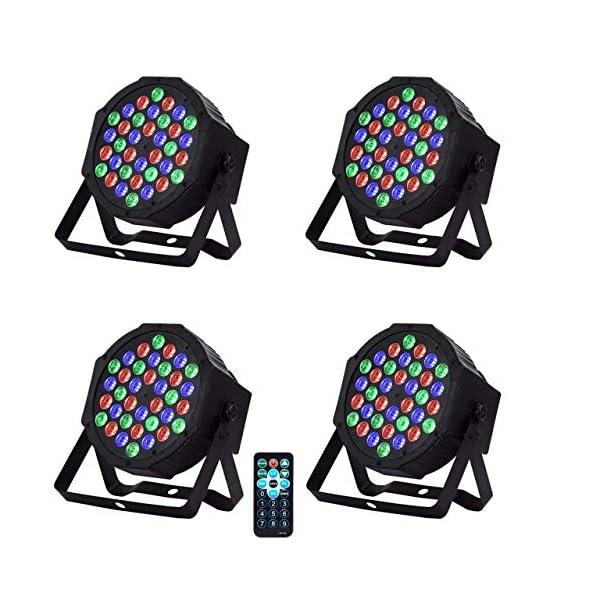 LED-PAR led par LED PAR Licht 36W 36LEDs RGB 7 Beleuchtung 4 STÜCK Modi Disco Lichteffekte dj party Licht Bühnenbeleuchtung led scheinwerfer Fernbedienung DMX Steuerung Discolicht für DJ KTV Disco Party 51sTNENkBkL