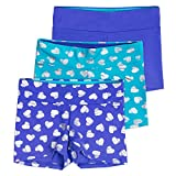 Lucky & Me Layla Girls Dance Shorts, Gymnastics & Dancewear, 3-Pack, Tanzanite, 7/8