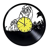 Lion King Silhouette Vinyl Record Wall Clock - Get unique home room wall decor - Gift ideas for his and her – Cartoons Characters Unique Modern Art