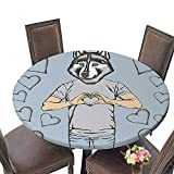 Round Polyester Tablecloth(Elastic Edge) Dinner