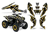 CreatorX Can-Am Renegade Graphics Kit Decals Stickers TribalX Yellow Silver