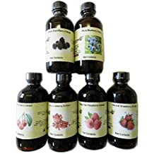 OliveNation Set of 6 Berry Extracts - Blueberry, Blackberry, Cherry, Cranberry, Raspberry and Strawberry
