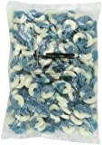 Albanese Blue Raspberry Blue-White, Gummi Rings, 4.5 Pound Bag