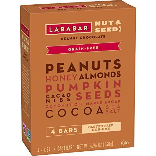 Larabar Peanut Chocolate Nut and Seed Crunchy Bar, 4.96 Ounce (4 Count), Whole Food Bars