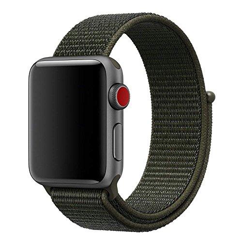 MadeforOnline Nylon Sport Loop Band Apple Watch 42mm 38mm, H