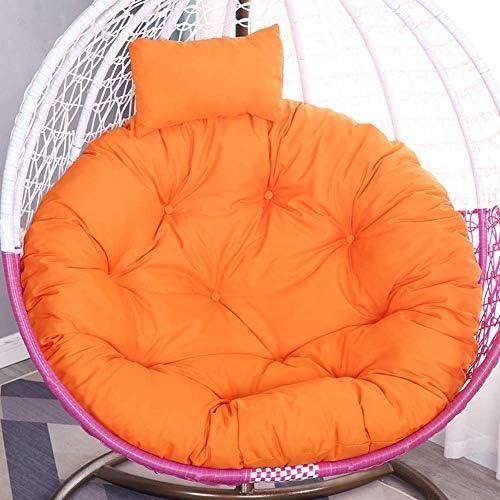 スイングクッション 防水 ハンギングエッグ ハンモック スイング チェアパッド,ハンギングバスケット チェアクッション,厚い シートクッション,ソフト チェアバック 椅子なし オレンジ Diameter105cm(41inch),オレンジ,Diameter105cm(41inch)