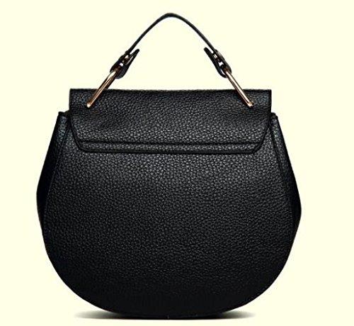 Cadena PU De Black Hombro Bolso Bolso Bolso Bolso Moda La De Seoras Nuevo La De Bolso q0x7IAw1