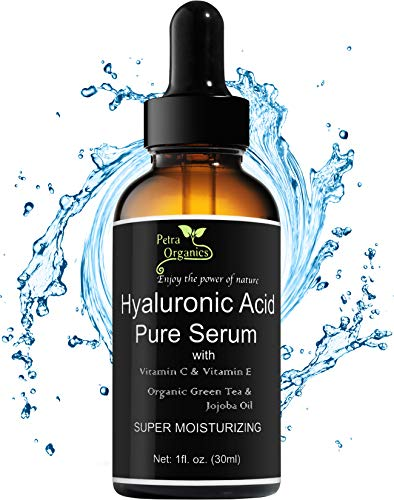 Petra Organics Hyaluronic Acid Serum with Vitamin C & E - Pure and Natural Face Serum - Youthful & Radiant Skin - Face Moisturizer with Purest Quality Hyaluronic Acid - 1fl.oz / 30ml