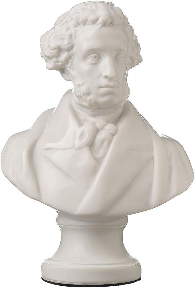 danila-souvenirs Russian Composer Pyotr Tchaikovsky Marble Bust Statue Sculpture