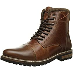 Crevo Men's Camden Snow Boot, Chestnut Leather, 9.5 M US