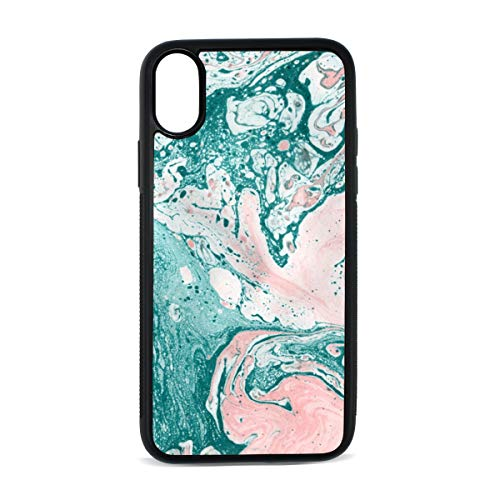 - Case for Iphonex/xs Vintage Floral Classic Swirl Traditional Model Effect Rococo Fashion Design Digital Print TPU Pc Pearl Plate Hard CasePhone Accessories Compatible with Protective Case5.8Inch
