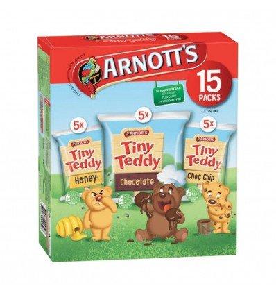 Tiny Teddy - Arnott's Tiny Teddy Variety 15 Pack 375g