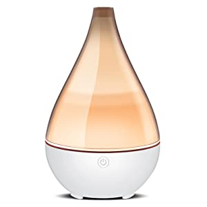 InnoGear 2019 Vase-Shaped Essential Oil Diffuser, Elegant Transparent Cover Cool Mist Humidifier Ultrasonic Aromatherapy Diffusers with Unique Breathing Lights Waterless Auto-off for Home Yoga Office