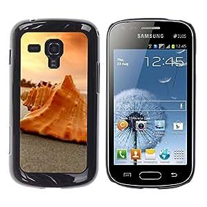 """Pulsar Snap-on Series Teléfono Carcasa Funda Case Caso para Samsung Galaxy S Duos S7562 , Shell Melocotón Naranja Atardecer Nubes Beach"""""""