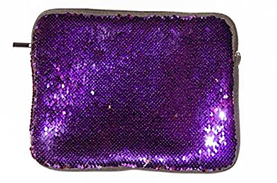 """Sparkle Sequin Tablet Case Fits Most 10.1"""" Swipe Two Tone Purple and Pink Carry Strap Included by I. N. Global Inc."""