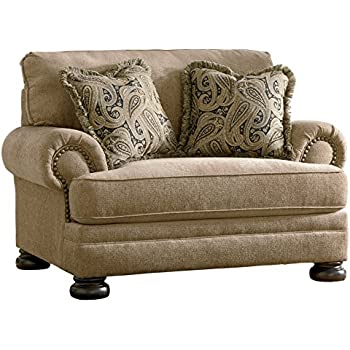 Sierra Sleep By Ashley Ashley Furniture Signature Design   Keereel Chair  And A Half   Plush Upholstery   Traditional   Sand
