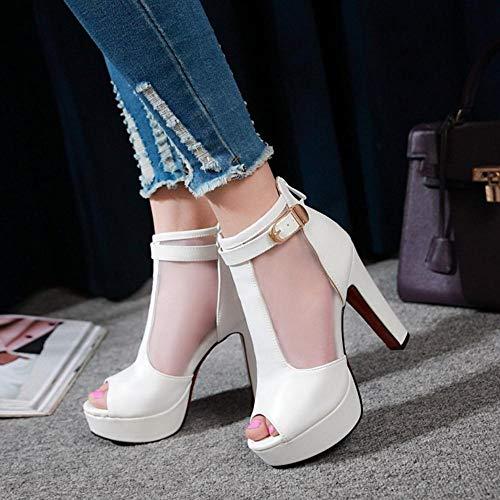 Moda Bianco Donna Alto Tacco COOLCEPT Piattaforma Sandals qZHa6WRw