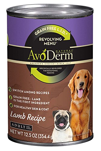 Avoderm Natural Revolving Menu Lamb Recipe Canned Wet Dog Food, 12.5-Ounce Cans, Case Of 12.