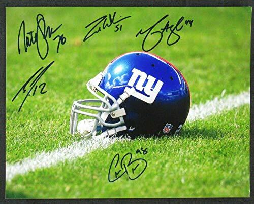 (Giants Signed 11x14 Photo Zak DeOssie Mark Herzlich Cody Latimer Nate Solder Con - Autographed NFL Photos)