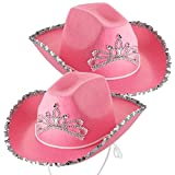 Blinking Cowgirl Hat (Pack Of 2) Pink Princess
