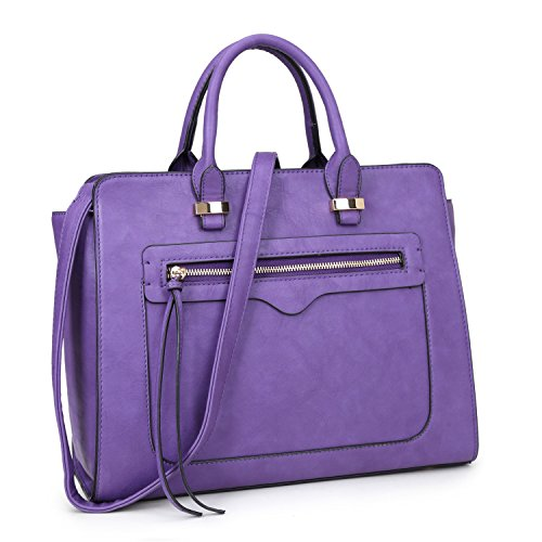 dasein-mini-vegan-leather-front-pocket-designer-satchel-handbag-with-crossbody-strap-xl6352