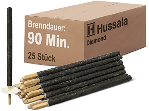 60 min Hussala Diamond Wax Torches Burning Time 25 pieces