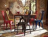 Cheap Home Elegance 5034RUTS Metal Chair, Rustic Brown, Set of 4