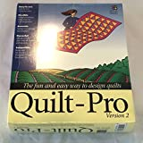 """Quilt Pro Version 2 for Windows on (2) 3 1/2"""" Floppy Disks 1994-1995 Old Version - No Box or Book"""