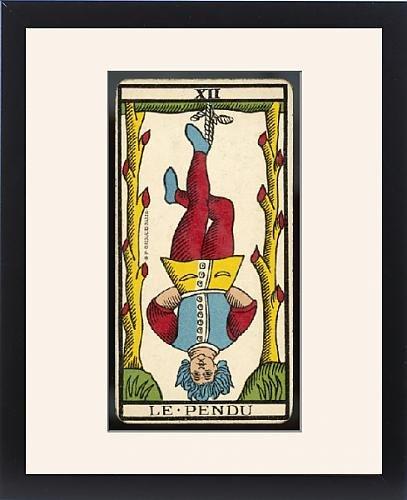 Framed Print of Tarot Card 12 - Le Pendu (The Hanged Man) by Prints Prints Prints
