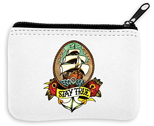 Stay True Sailing Ship Old School Tattoo Collection Flowers ...