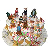 Famous Books Peter Rabbit Deluxe Cake Toppers Cupcake Decorations Set with Figures and Toy BunnyBracelets Featuring All The Popular Peter Rabbit Characters!