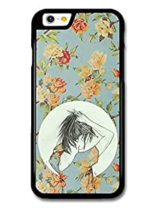 Wholesale diy case Accessories Girl Making a Ponytail Flower Pattern case for iPhone 6