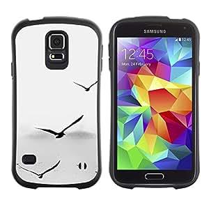 Suave TPU GEL Carcasa Funda Silicona Blando Estuche Caso de protección (para) Samsung Galaxy S5 / CECELL Phone case / / Seagulls Grey Minimalist Sea Captain Birds /