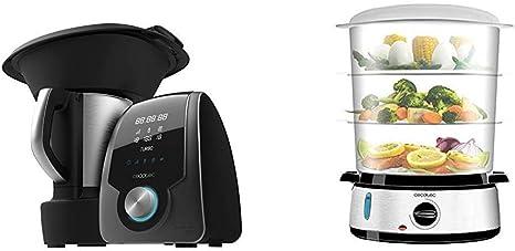 Cecotec Robot de Cocina Multifunción Mambo 7090 + Vapovita 3000 Vaporera eléctrica INOX con 800 W: Amazon.es: Hogar