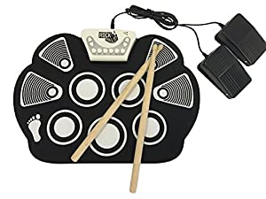 Rock And Roll It - Drum Flexible, Completely Portable, battery OR USB powered, 2 Drum Sticks + Bass Drum & Hi hat pedal included!