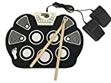 hi nn - MukikiM Rock And Roll It - Drum. Flexible, Completely Portable, battery OR USB powered, 2 Drum Sticks + Bass Drum & Hi hat pedal included!