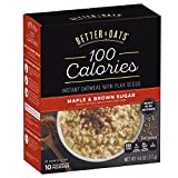 Better Oats 100 Calories Maple & Brown Sugar Instant Oatmeal with Flax Seeds,10 Pouch Boxes (Pack of 6) Review