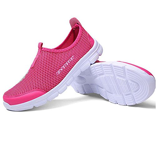 WoMen Breathable Mesh Slip On Loafers Outdoor Sport Running Shoes Walking Sneakers (7)