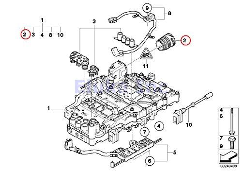 BMW Genuine Sealing Sleeve With O-Rings For Auto Trans Valve Body (Mechatronic) 128i X3 3.0i X3 3.0si 128i 323i 328i 328xi 323i 328i 328xi 328i 328xi 328i 328xi 328i 328xi 328i 328xi 328i 328i (Valve Body O-ring)