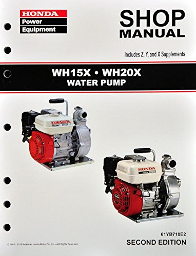 Honda WH15 WH20 WH15X WH20X Pump Service Repair Shop Manual