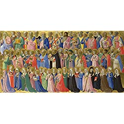 Oil Painting 'Fra Angelico The Forerunners Of Christ With Saints And Martyrs ' Printing On Perfect Effect Canvas , 16 X 32 Inch / 41 X 81 Cm ,the Best Game Room Decor And Home Decor And Gifts Is This Reproductions Art Decorative Canvas Prints
