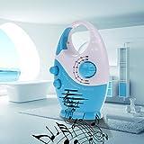 Vanpower Portable Mini AM FM Waterproof Hanging Bathroom Shower Music Radio ,Blue